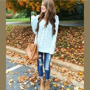 BP Nordstrom Long Sleeve Chunky Cable Knit Sweater